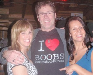 Daryll Makk in the famous I love Boobs Shirt