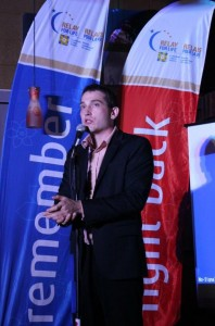 James Uloth at the Relay for Life in Leduc Fundraiser