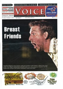 front page hinton voice comedy fundraiser