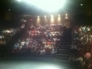 Almost full theatre in Kelowna