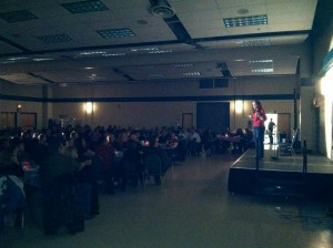 Strathmore AB was packed with well over 200 people. Fun Night!