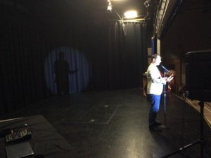 Steve Mazan on stage
