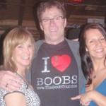 Daryll Makk in the famous I love Boobs Shirt