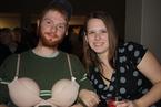 The buzzer bra for Allison Lanes game show.